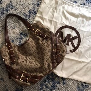 Michael Kors monogram canvas shoulder bag bag